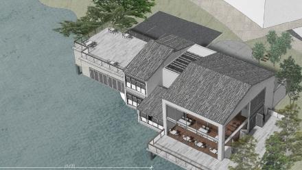 《湖光茶舍》作者:17风景园林1班  邓芷恩、冯韵尧