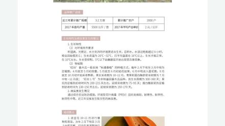 广东省农业农村厅-2019年农业主导品种:红铃番木瓜