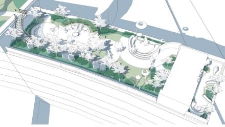 《华南农业大学第四教学楼屋顶花园设计》 作者:李璐